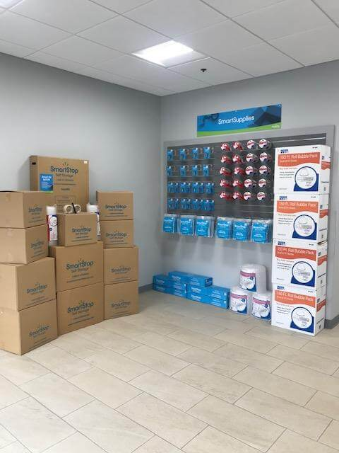 Moving and packing supplies available for purchase at Smart Stop self storage facility located at 3173 Sweeten Creek Road, Asheville North Carolina