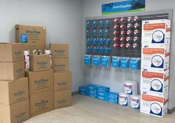 Moving and packing supplies available for purchase at SmartStop Self Storage facility located at 3173 Sweeten Creek Road, Asheville North Carolina
