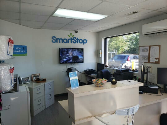 Inside front office at Smart Stop self storage facility located at 197 Deaverview Road, Asheville North Carolina