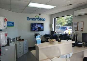 Inside front office at SmartStop Self Storage facility located at 197 Deaverview Road, Asheville North Carolina