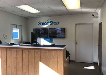 Front desk at Smart Stop self storage facility located at 75 Highland Center Blvd, Asheville North Carolina