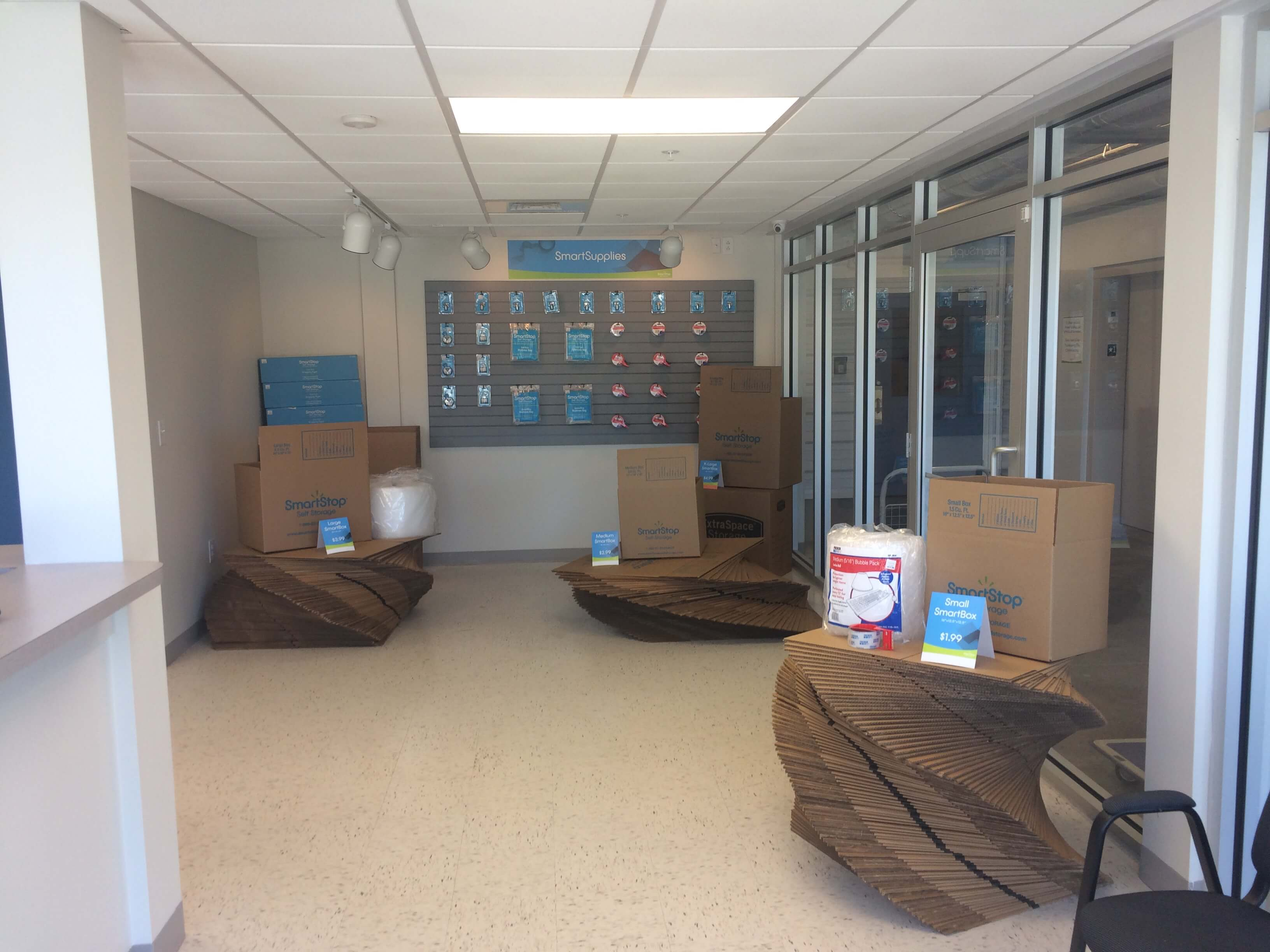 Front desk view of Smart Stop self storage facility located at 701 Wando Park Blvd, Mt Pleasant South Carolina
