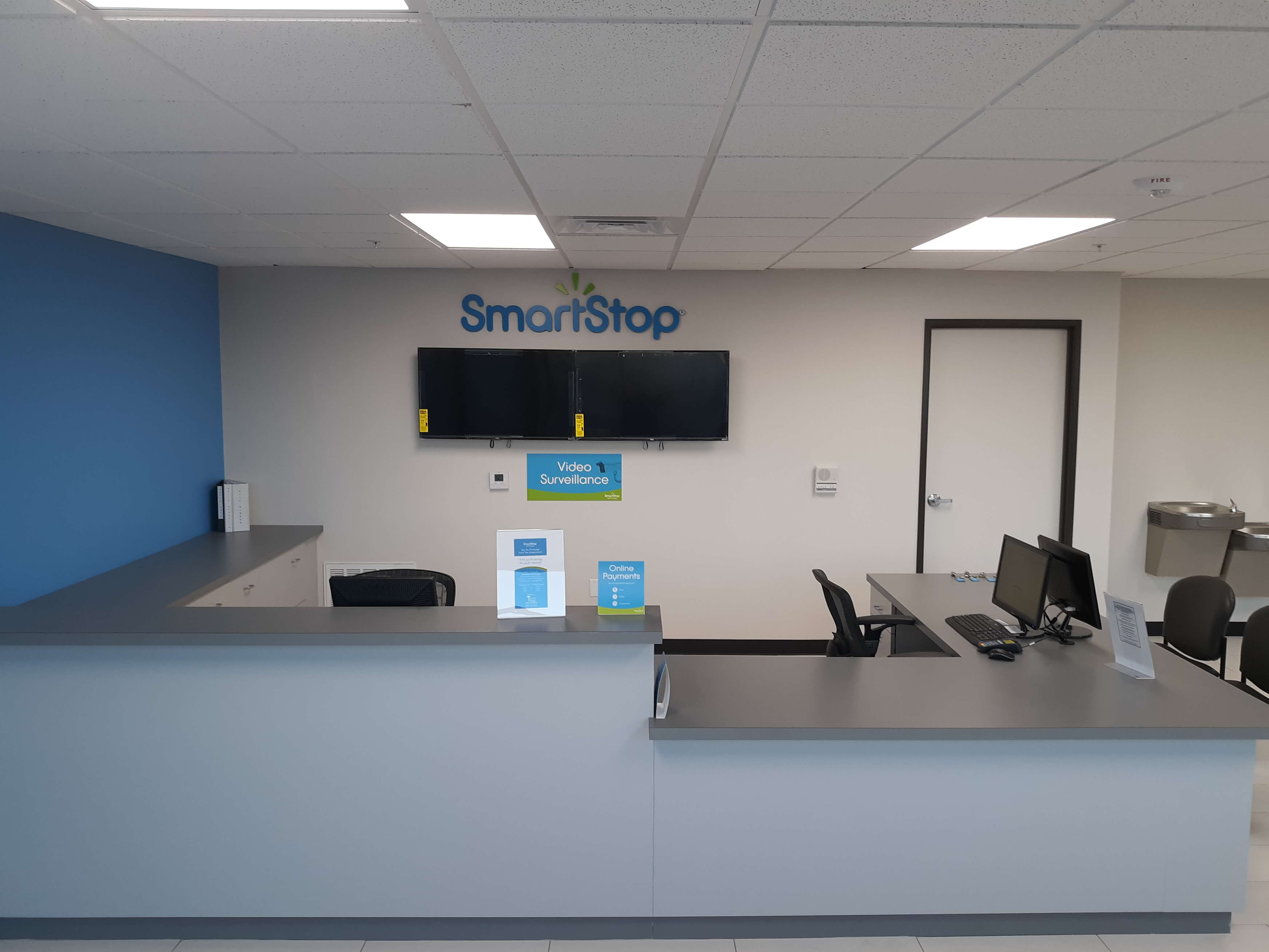 Front desk at Smart Stop self storage facility located at 6888 North Hualapai Way, Las Vegas Nevada