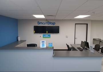 Front desk at SmartStop Self Storage facility located at 6888 North Hualapai Way, Las Vegas Nevada