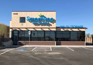 Main office of SmartStop Self Storage facility located at 6888 North Hualapai Way, Las Vegas Nevada