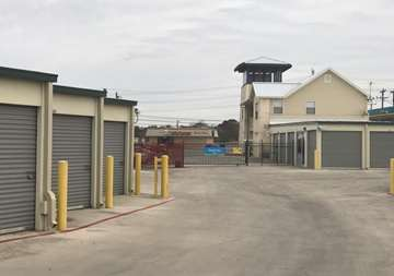 Outside view of storage unites SmartStop Self Storage facility at 8239 Broadway St in San Antonio Texas