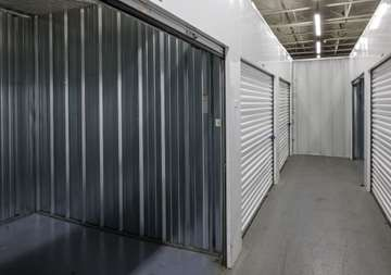 See inside storage unit and inside hallway