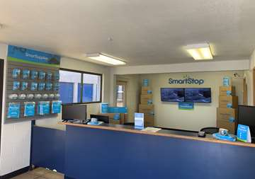 Inside front office at SmartStop Self Storage facility located at 6318 West Sahara Ave, Las Vegas Nevada