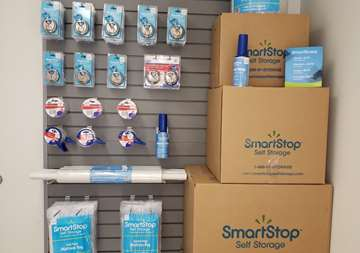 Inside of front office at SmartStop Self Storage facility located at 590 East Silverado Ranch Blvd, Las Vegas Nevada