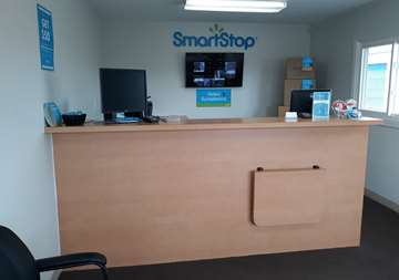 Front desk at SmartStop Self Storage facility located at 27203 Groesbeck Highway, Warren Michigan