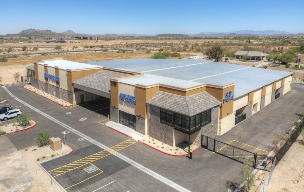 Aerial View of Self Storage Property in Phoenix, AZ