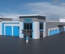 Front rendering of brand new storage facility in East York, ON