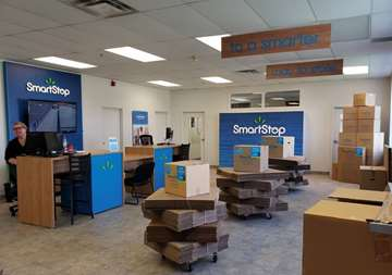 Interior of Front Office at Self Storage facility in Oakville