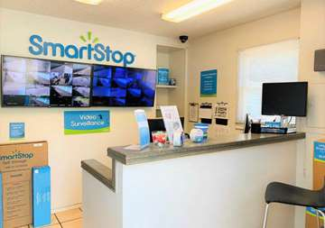 Front desk within office at SmartStop Self Storage facility located at 40 Wilmington, Asheville North Carolina