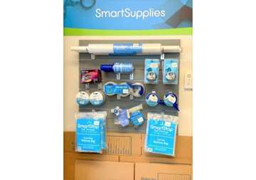 Packaging and moving supplies available for purchase within front office at SmartStop Self Storage facility located at 40 Wilmington, Asheville North Carolina