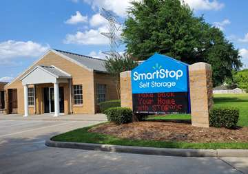 Front entrance of SmartStop Self Storage at 10830 West Rd Houston, TX