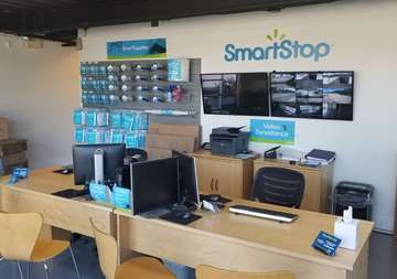 Inside front office of SmartStop Self Storage facility located at 4630 Dick Pond Road, Myrtle Beach South Carolina
