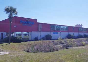 Front street view of SmartStop Self Storage facility located at 4630 Dick Pond Road, Myrtle Beach South Carolina
