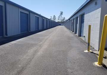 Exterior storage units for rent at SmartStop Self Storage facility located at 4630 Dick Pond Road, Myrtle Beach South Carolina