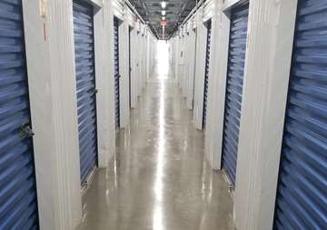 Interior row of storage units at SmartStop Self Storage facility located at 4630 Dick Pond Road, Myrtle Beach South Carolina