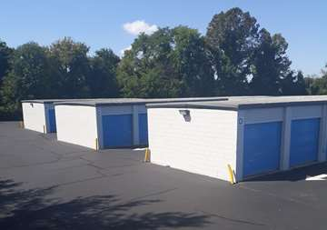 Outside view of storage units at SmartStop Self Storage facility located at 4233 Route 130 South, Beverly New Jersey