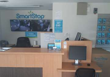 Front desk at SmartStop Self Storage facility located at 4233 Route 130 South, Beverly New Jersey