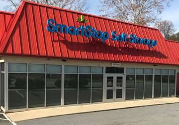 Front office entry at SmartStop Self Storage facility located at 1130 Sweeten Creek Road, Asheville North Carolina