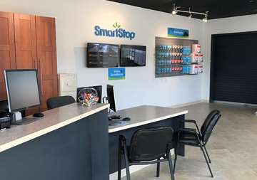 Front desk at SmartStop Self Storage facility located at 1130 Sweeten Creek Road, Asheville North Carolina