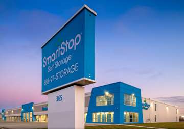 Outside view of front office at SmartStop Self Storage facility located at 365 Fruitland Road, Stoney Creek Ontario Canada