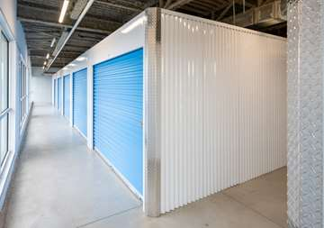Inside row of storage units at SmartStop Self Storage facility located at 365 Fruitland Road, Stoney Creek Ontario Canada