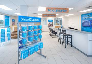 Inside front office at SmartStop Self Storage facility located at 365 Fruitland Road, Stoney Creek Ontario Canada