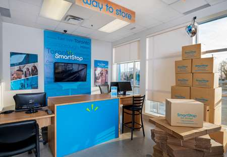 Front office at SmartStop Self Storage facility located at 1207 Appleby Line, Burlington Ontario Canada