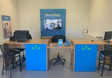 Front Desk at SmartStop Self Storage facility at 3101 Texas Avenue South, College Station Texas