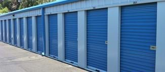 Blue storage units, convenient for holding all of the belongings unable to fit in your suitcase.