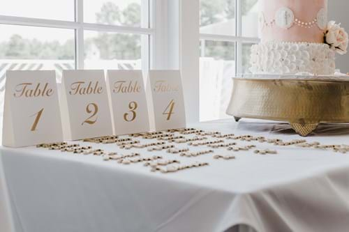 decorative wedding place setting